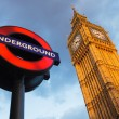 Big Ben and Undergraund — Foto Stock