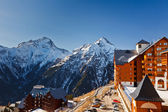 Ski resort in French Alps — Stockfoto