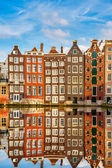 Traditional dutch buildings, Amsterdam — Stok fotoğraf