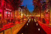 Red district in Amsterdam — 图库照片