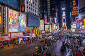 Times square de nuit — Photo