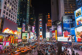 Times square in de nacht — Stockfoto