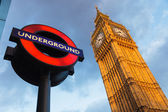 Big Ben and Undergraund — Stock Photo