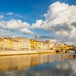 Arno river in Florence - Stock Photo