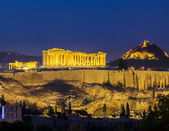 Acropolis at night, Athens — Stock Photo