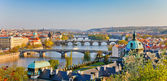 Praga ao pôr do sol — Foto Stock