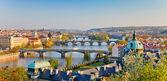 Praha při západu slunce — Stock fotografie