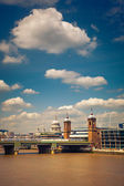 Clouds over Thames, London — Stock Photo