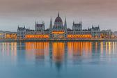 Parlamentní budovy, budapešť — Stock fotografie