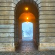Gate in Buda Castle, Budapest — Stock Photo