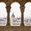 Parliament form Fisherman's Bastion, Budapest - Foto Stock