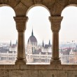 Parliament form Fisherman's Bastion, Budapest - Stockfoto