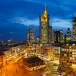 Frankfurt at night - Stock Photo