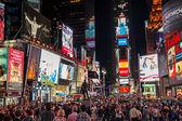 Náměstí times square v noci — Stock fotografie