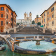 Spanish Steps at morning, Rome - Stock Photo