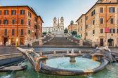 Plaza de españa en la mañana, roma — Foto de Stock
