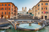 Spanish Steps at morning, Rome — 图库照片