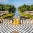 Grand Cascade in Peterhof, St Petersburg — Stockfoto