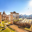 Roman ruins in Rome, Forum — Stock Photo #21262389