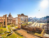 Roman ruins in Rome, Forum — Foto Stock