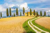 Krajina toskánska — Stock fotografie
