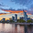 Frankfurt at dusk — Stock Photo