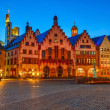 Historic Center of Frankfurt at night — Stock Photo