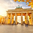 Brandenburg gate at sunset — Stock Photo