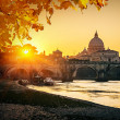St. Peter's cathedral at sunset, Rome — Stock Photo #29806747