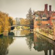 Cam river, Cambridge — Stock Photo