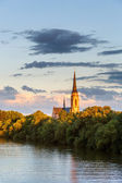 Church on Main river — Stock fotografie