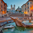 Spanish Steps at dusk, Rome — Stock Photo #30014811
