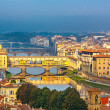 Bridges over Arno river in Florence — Stock Photo