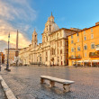 Stock Photo: PiazzNavonin Rome