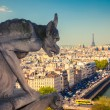Stock Photo: Gargoyle on Notre Dame Cathedral