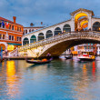 Rialto Bridge at dusk — Stock Photo