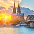 Cologne at sunset — Lizenzfreies Foto