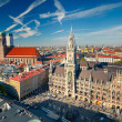 aerial view of munchen — Stock Photo