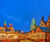 Christmas market in Frankfurt — Stock Photo