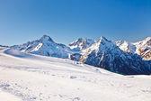 滑雪场在法国阿尔卑斯山 — 图库照片