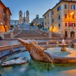 Spanish Steps at dusk, Rome — Stock fotografie