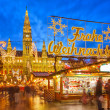 Christmas market in Vienna — 图库照片