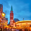 Christmas market in Frankfurt — 图库照片