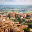 Aerial view over city of Siena — Stock Photo #37407275