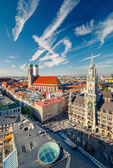 Aerial view on the historic center of Munchen — Stock Photo