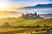 Tuscany at sunrise — Stock Photo