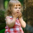Little girl in the forest — Stock Photo #41891095