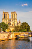 Notre Dame de Paris at sunset — Stock Photo