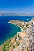 Palamidi castle and Nafplion city — Stock Photo
