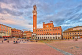 Piazza del Campo in Siena — Stock Photo